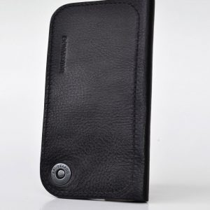 This iPhone XS wallet case is made from vegetable tanned Italian black leather. This line is as for men and women with international taste and ambitions.
