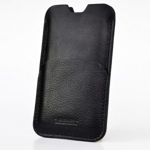 iPhone 11 pro case. Simple style. Black colour. Leather pouch case for iPhone XR. Sleeve design