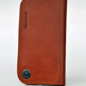 High quality leather wallet case, made for perfect fit of iPhone XS.  Three layers of top class Italian genuine full grain leather
