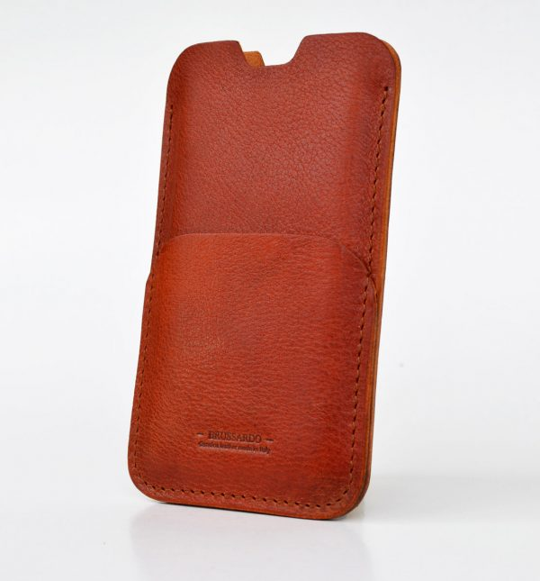 iPhone 11 pro case. simplice style. Light Brown (tan) colour. Leather pouch case for iPhone XS. Sleeve design