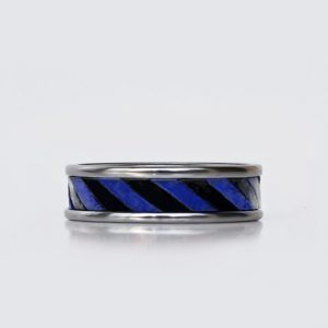 blue-black-leather-tungsten-edding ring