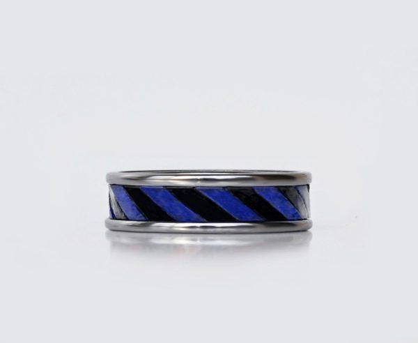 blue-black-leather-tungsten-edding ring