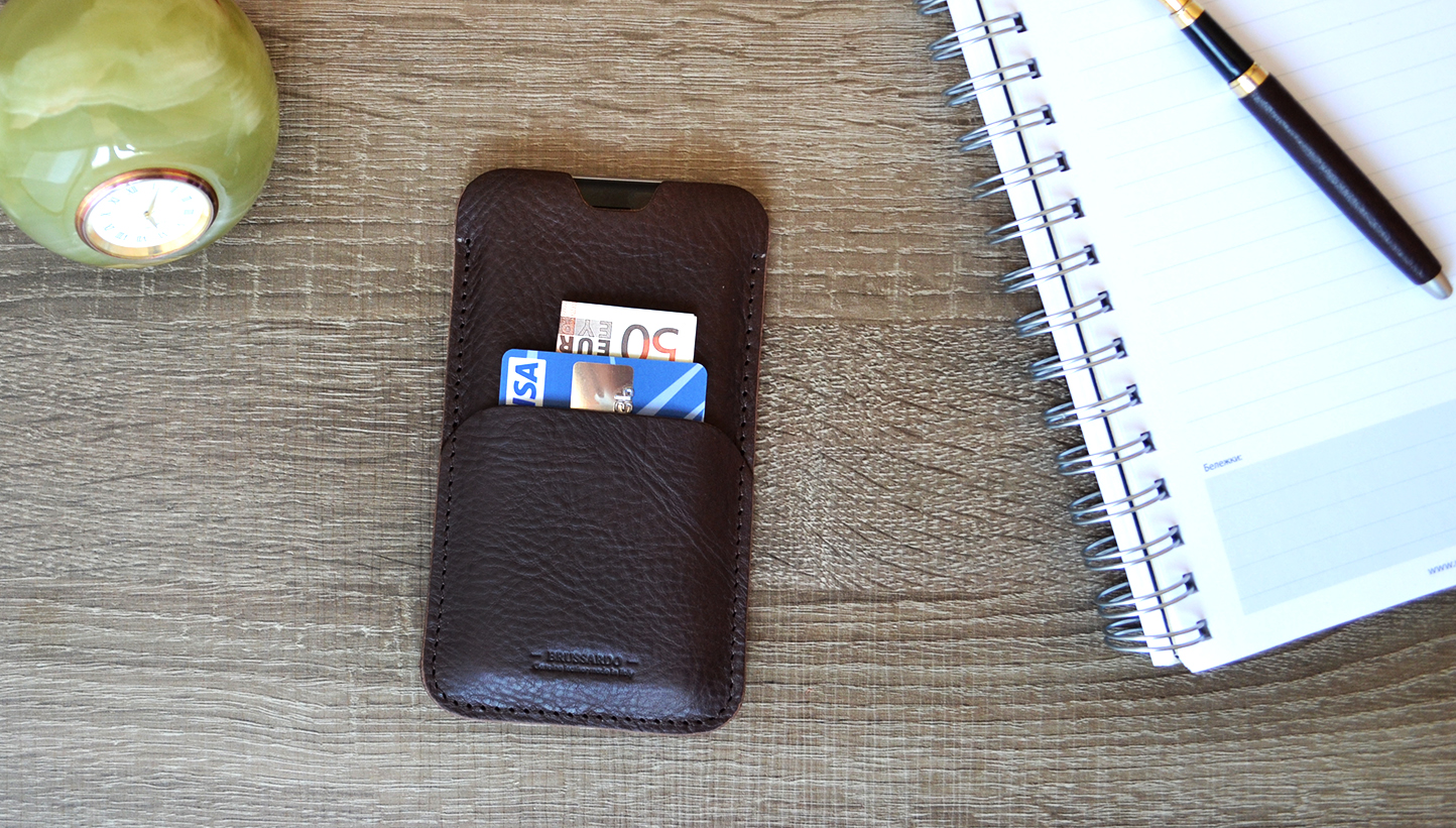 Leather sleeve case for iPhone