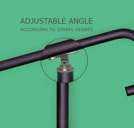 Adjustable handrail angle