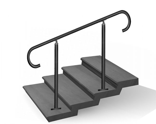 four, five, six, seven steps staircase handrail